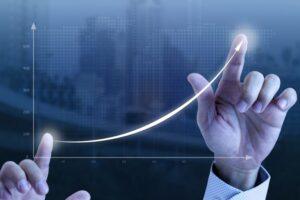 Gráfico crescente, representando quanto tempo leva para uma empresa dar lucro
