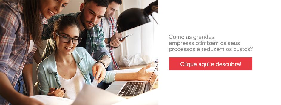 """Banner para o artigo de otimização de processos e redução de custos, no artigo """"como conseguir investidores para pequenos negócios?"""""""