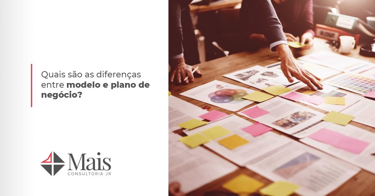 Quais são as diferenças entre modelo e plano de negócio?